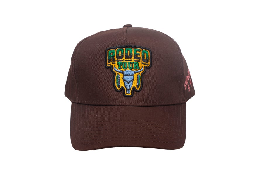 "Image of ""Rodeo"" Rodeo Tour Brown Trucker Hat"