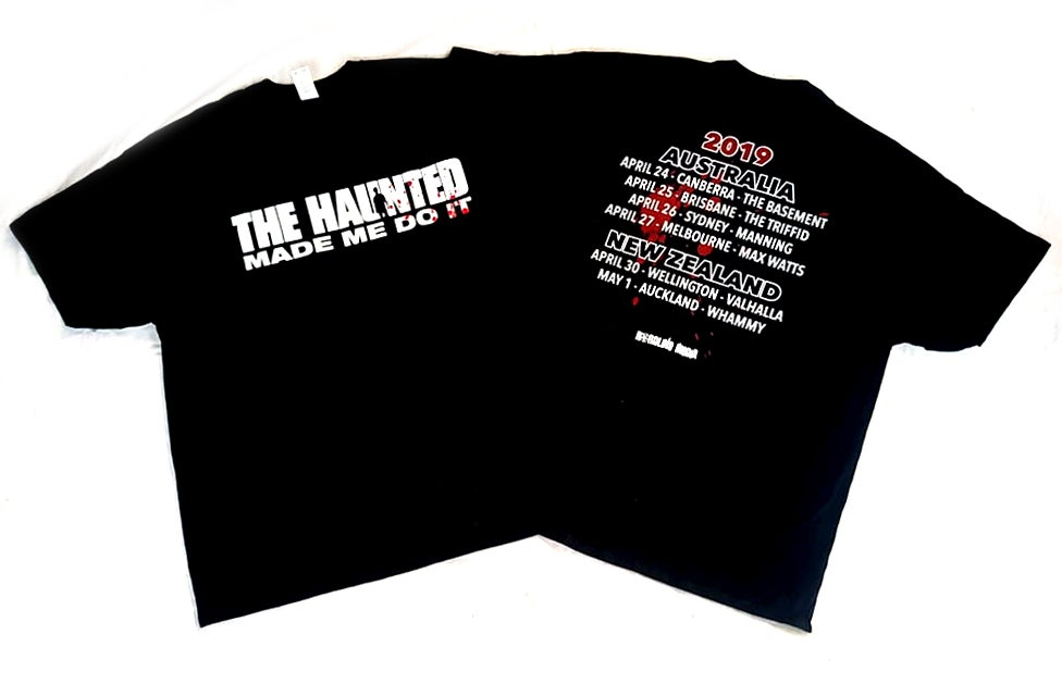 Image of THE HAUNTED - Made Me Do It - Triple Bill Kill Aussie Tour Shirt
