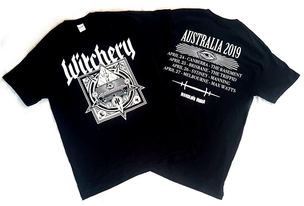 Image of T'SHIRT - Witchery - Triple Bill Kill: Australian Tour 2019