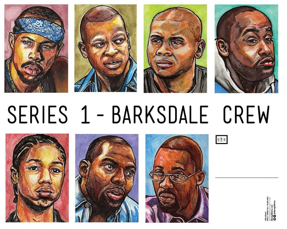 Image of Wire Series 1 - Barksdale Crew - Limited Edition Art Cards