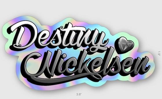 Image of DESTINY NICKELSEN LOGO STICKER