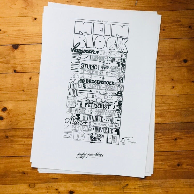 """Image of """"Mein Block"""" A2 & A3 Poster"""