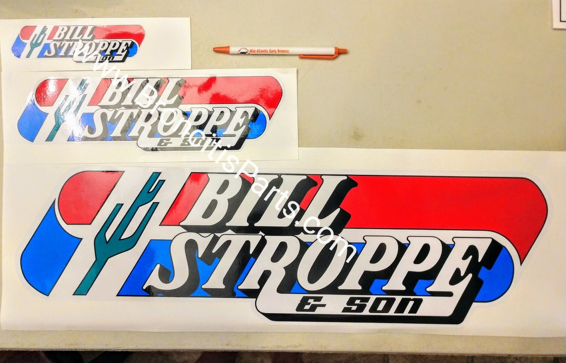 Image of Bill Stroppe & Son Cactus Decal