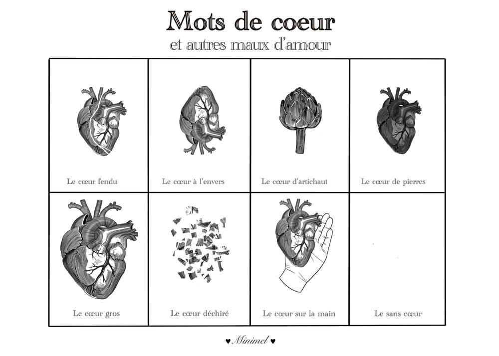Image of Affiche A3 Maux de Coeur