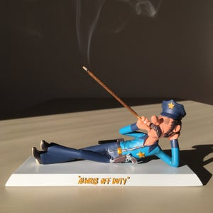 """Image of """"Always Off Duty"""" Limited Edition Resin Incense Holder"""