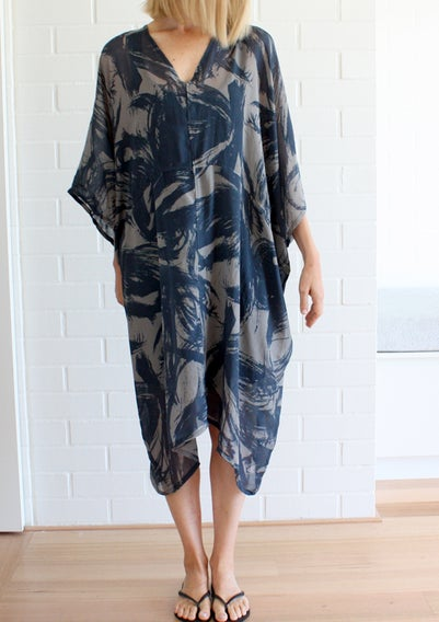 Image of Loop Print Section Dress