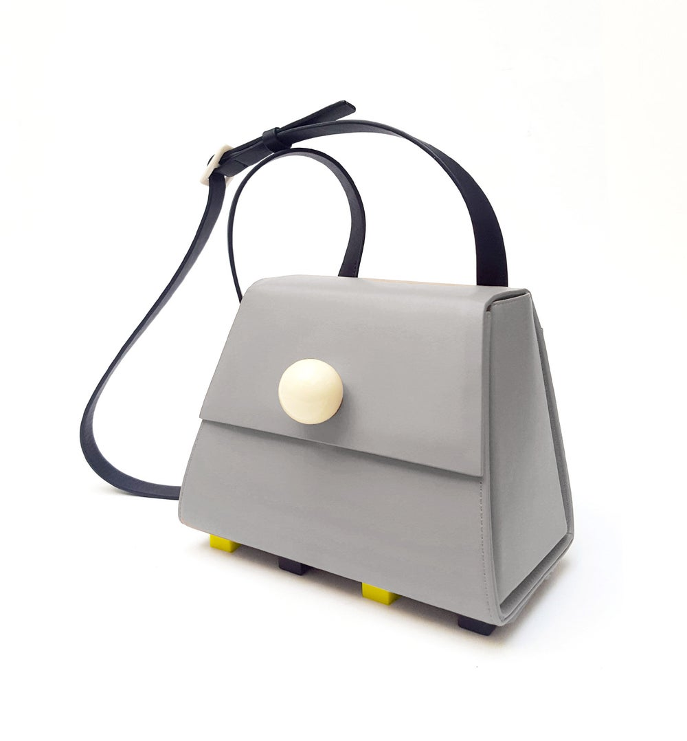 The Mini trapezoid shoulder bag - Grey