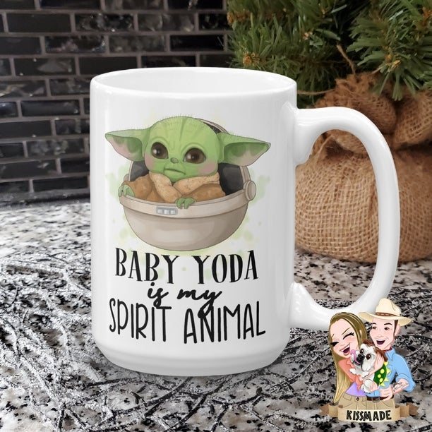 Image of Baby Yoda Is My Spirit Animal