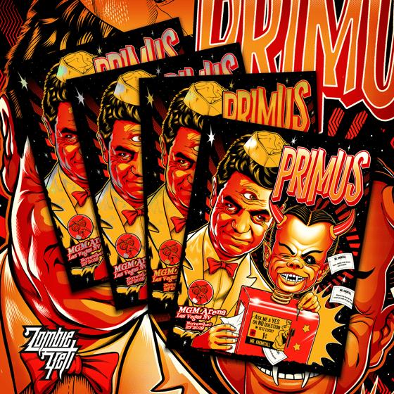 Image of Primus Las Vegas 2019 S/N Gig Poster