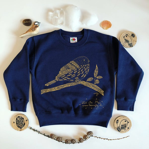 Image of Kid's Sweat-Shirt *Gold Bird*