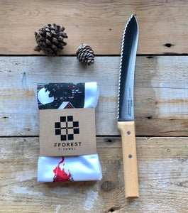 Image of fforest bread knife & tea towel gift set