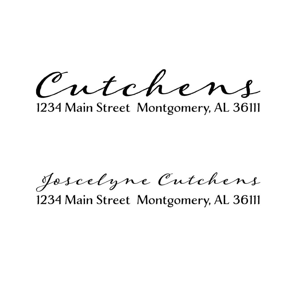 Image of Long Cursive Address