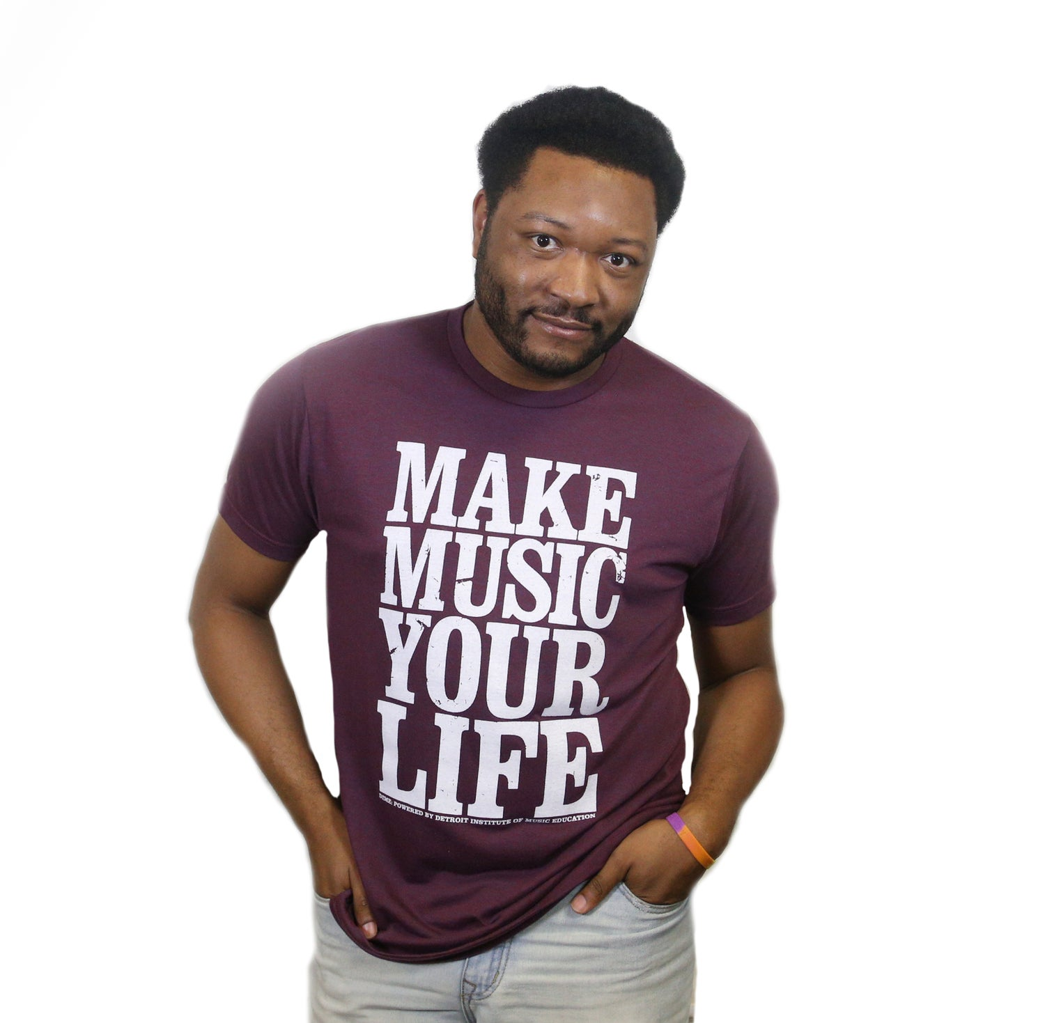 Image of Make Music Your Life T-Shirt (Berry)