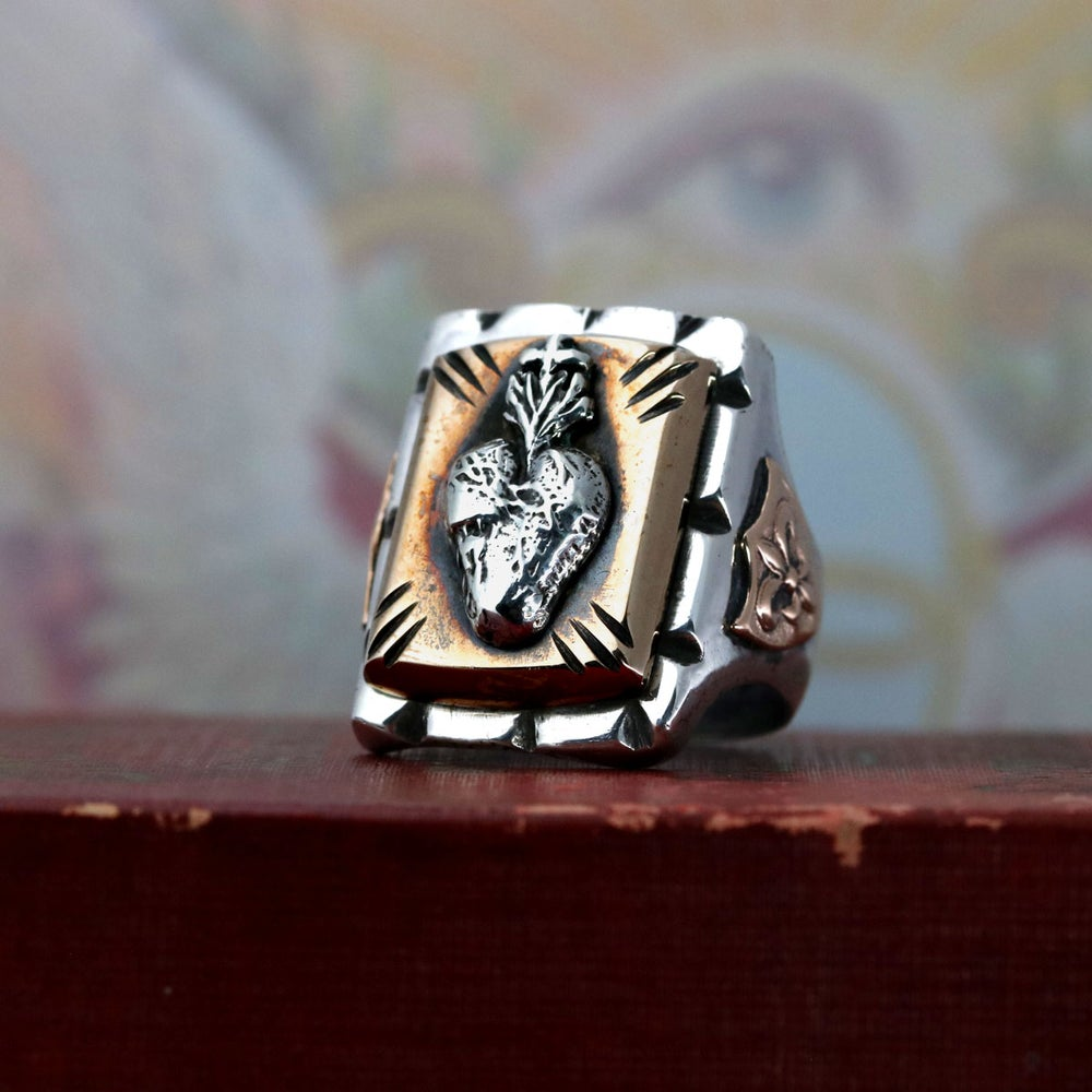 SACRED HEART MEXICAN BIKER RING