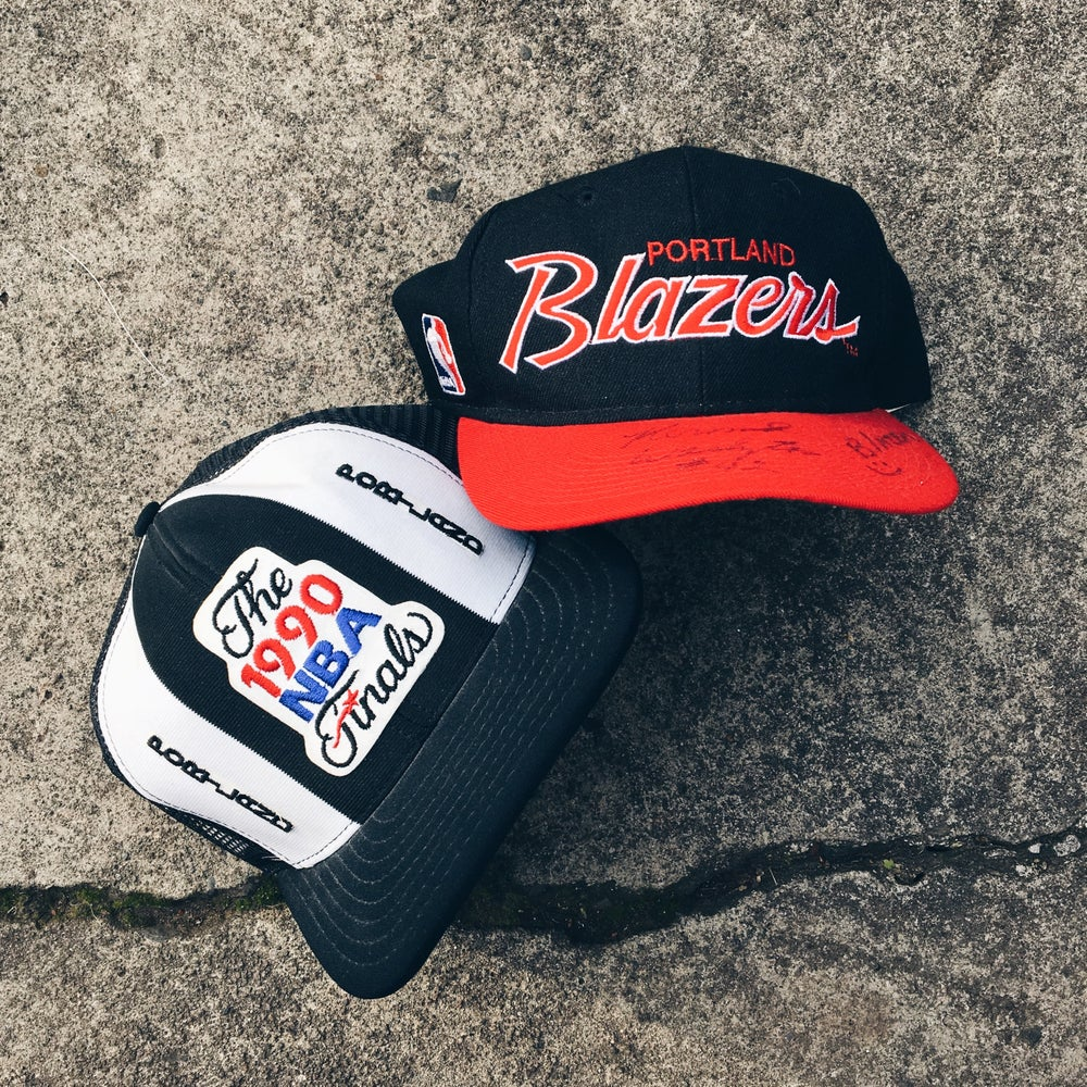 Image of Original 90's Trail Blazers Snapback Hats.