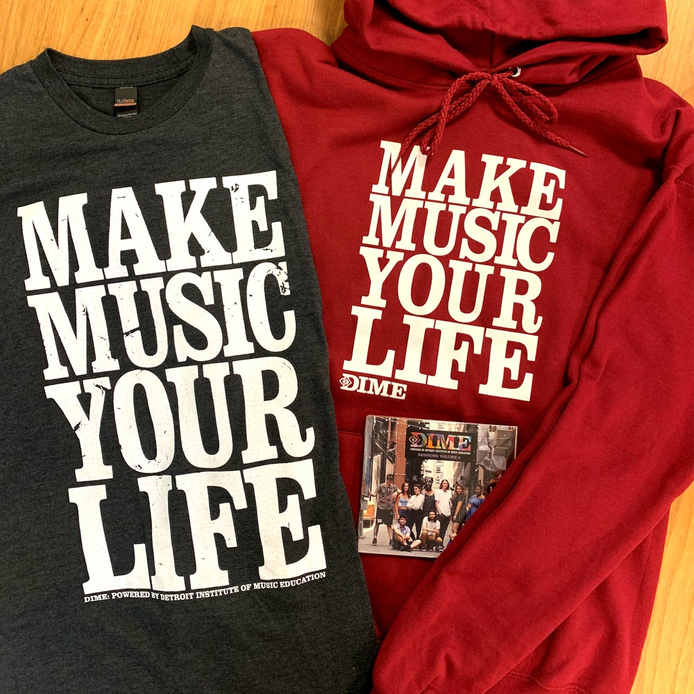 Image of DIME Merch Bundle: Hoodie, T-Shirt, DIME Sessions CD