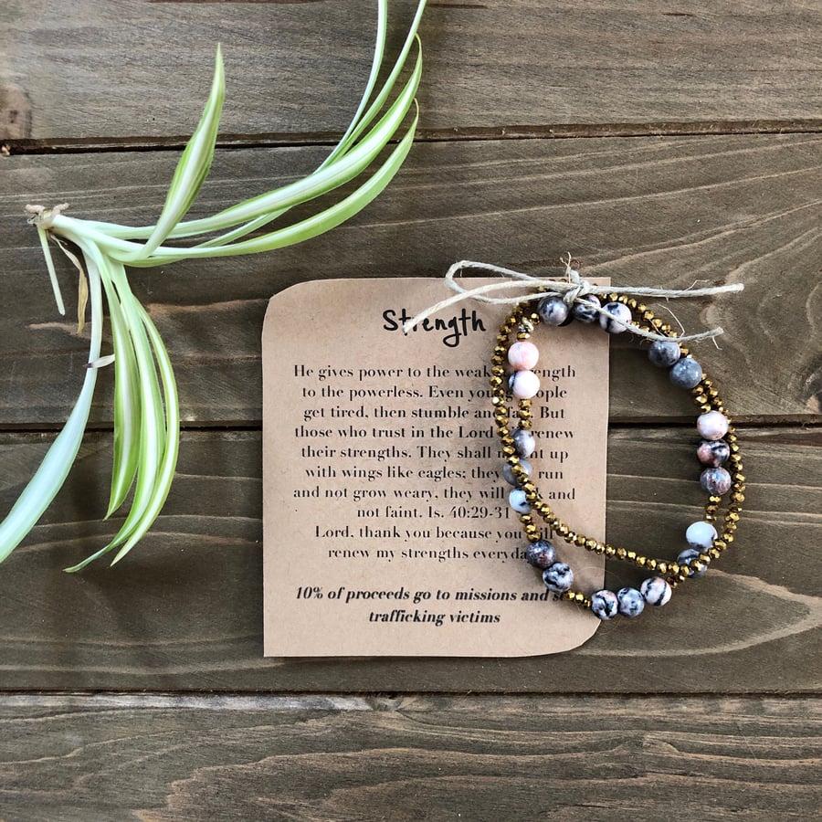 Image of Strength Original Prayer Bracelet