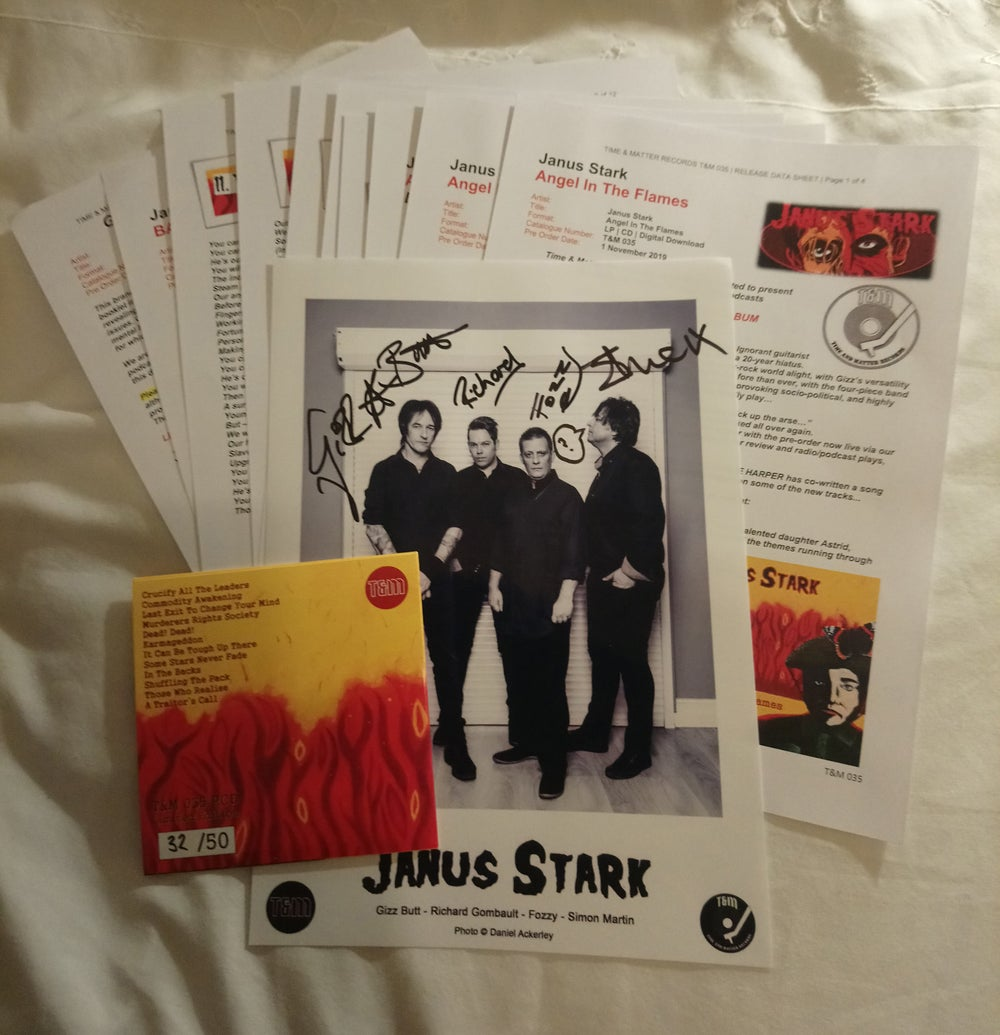T&M 035 PCD - Janus Stark - Angel In The Flames - Promo Pack (Feat. GIZZ BUTT ex-Prodigy & Subs)