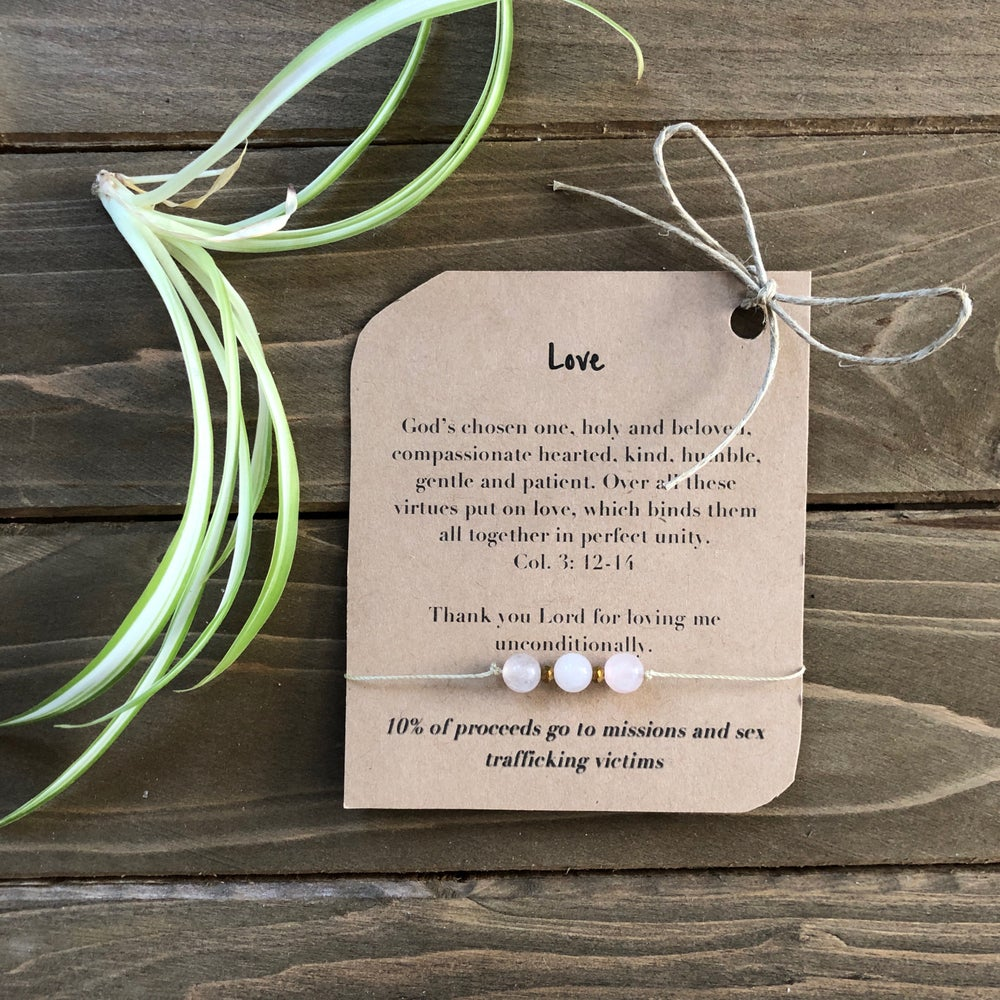 Image of Love Barely There Tri-Stone Bracelet