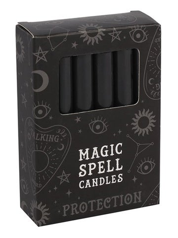 Image of PROTECTION Spell Candles BLACK (12)
