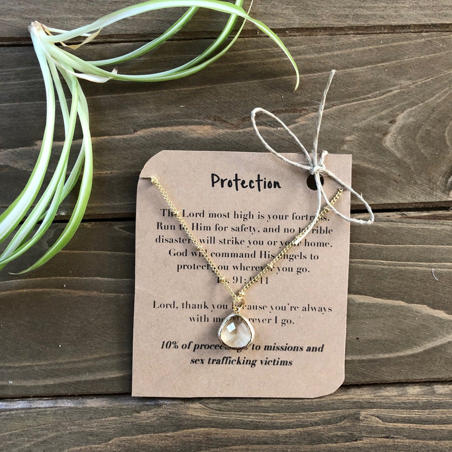Image of Protection Jonquil Pendant Necklace