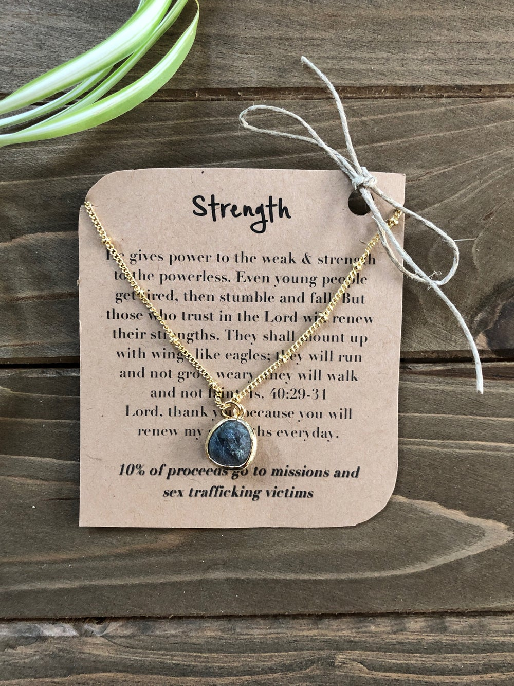 Image of Strength Labradorite Pendant Necklace