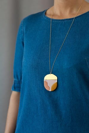 Image of INGEL pendant in Bashful with Rose and Goldenrod