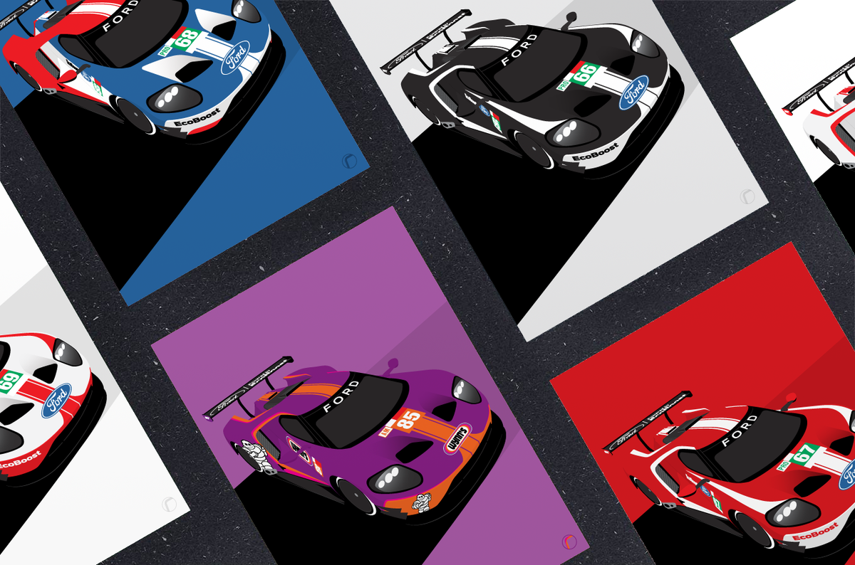 Image of Ford GT40 | Le Mans 2019 (Set of 5)
