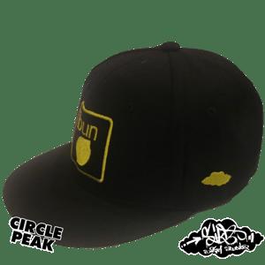 Image of ibun lemon limited edition snapback hat (only 25 square peak / 25 round peak made)