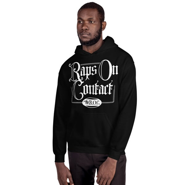 Image of Black Raps On Contact Pullover Hoodie