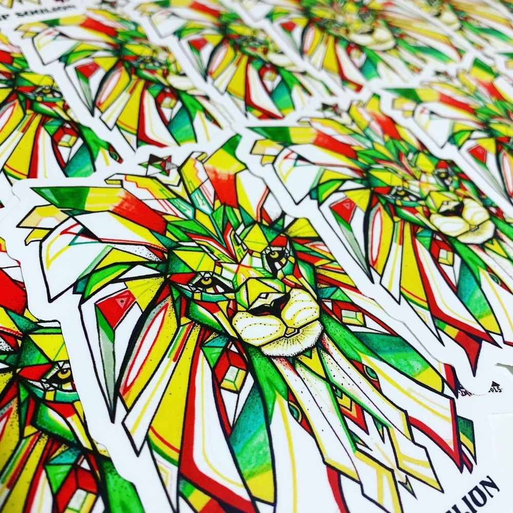 Image of Sacred Lion sticker 5inch