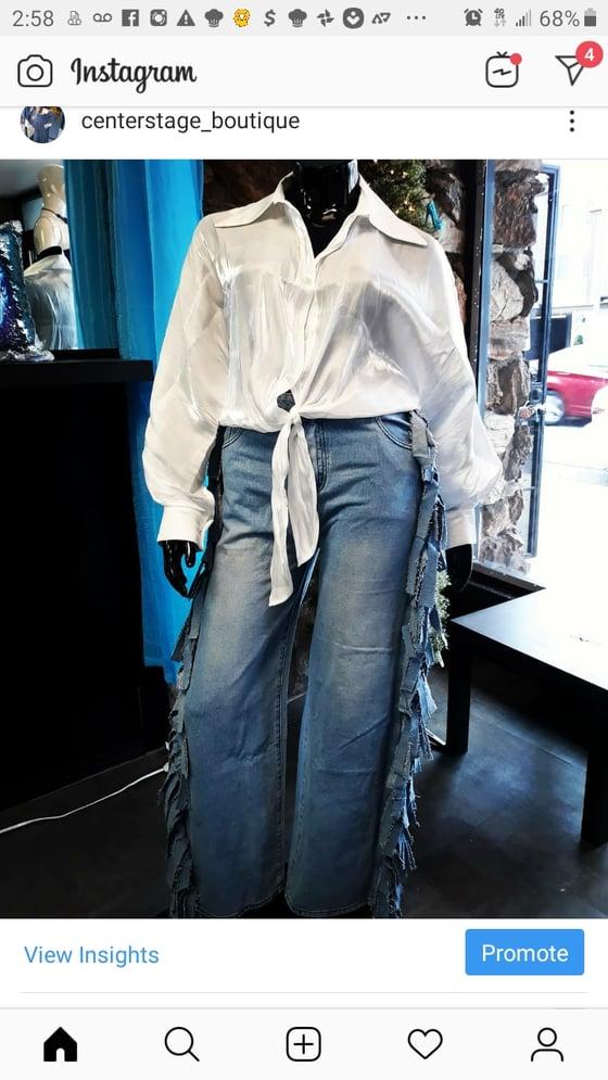 Image of Sidebeat fringe jeans