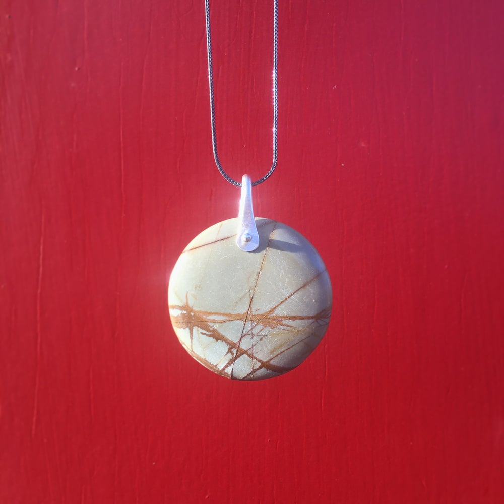 Image of rock and rivet necklace