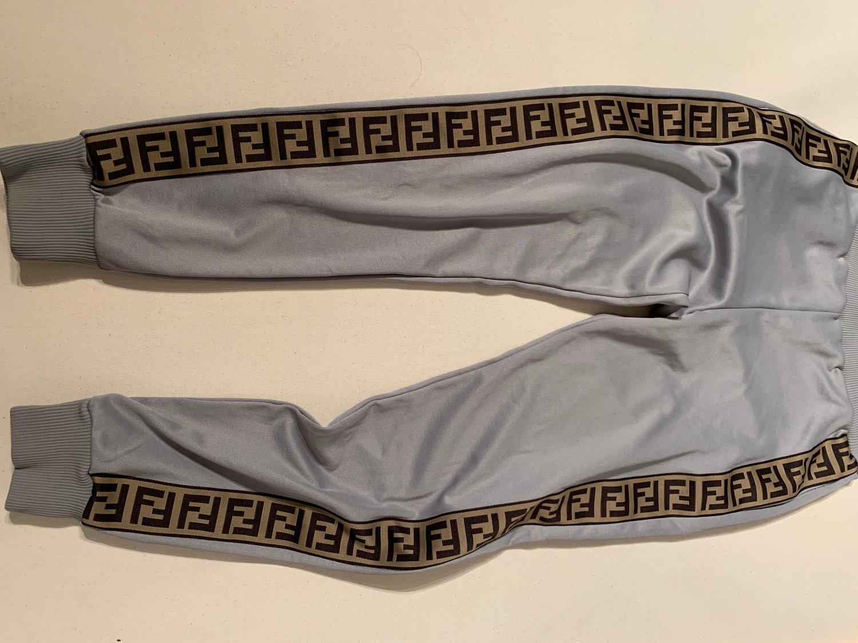 Image of FENDI MONOGRAM TRACK PANTS