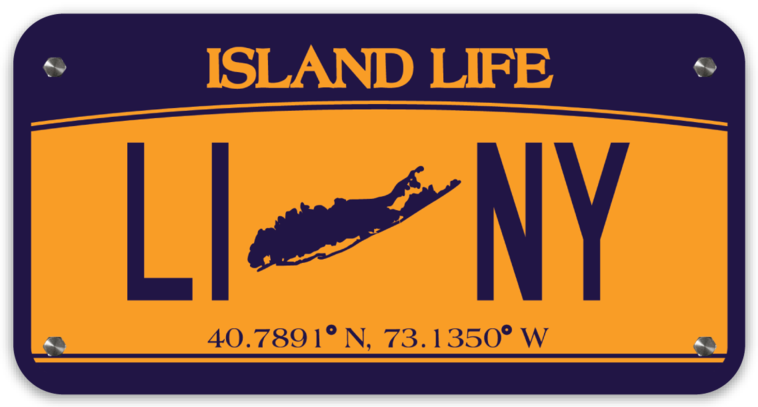Image of Island Life LINY License Plate Decal