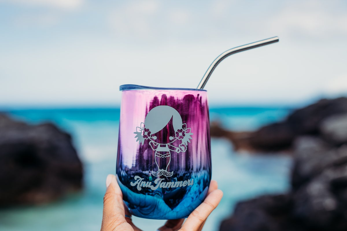Image of Shiny Gradient AnuJammers Mermaid Tumbler