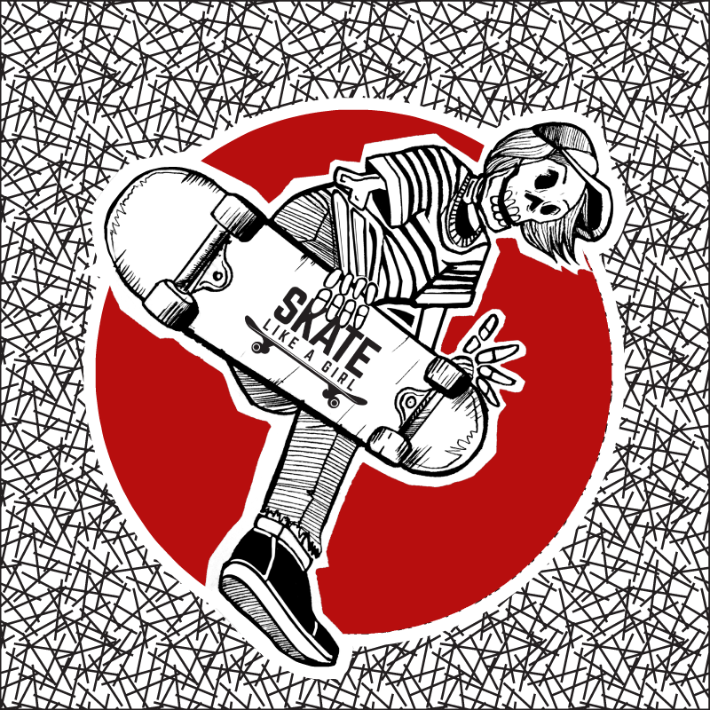 Image of Boneless Skeleton Sticker