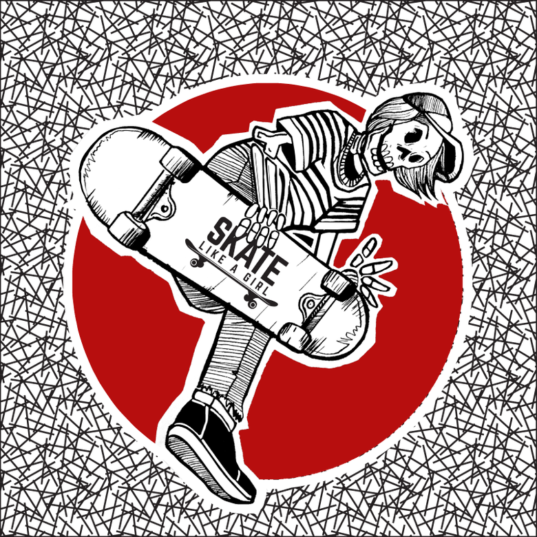Image of Boneless Skeleton Sticker