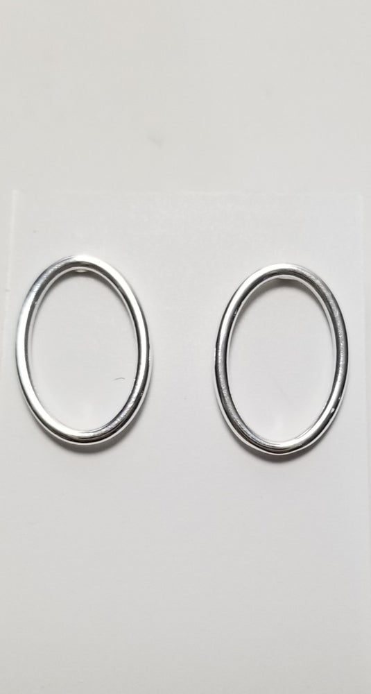 "Image of 1/2"" oval stud earrings"