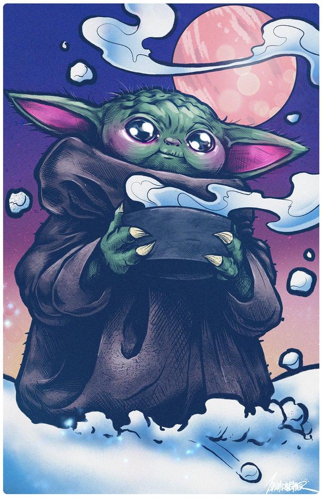 Image of Baby Yoda 11x17 print