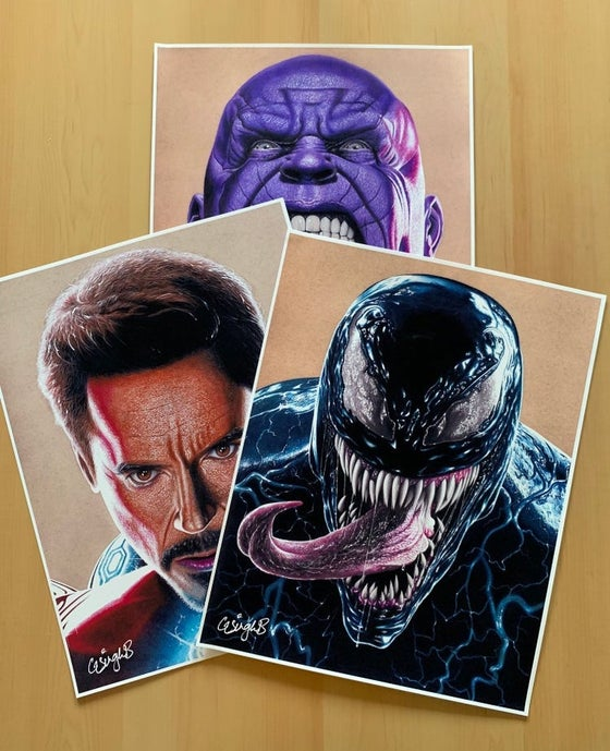"Image of ""3 Piece"" (Thanos, Venom & Iron Man Prints)"