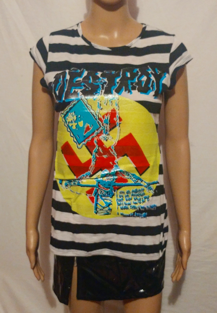 Image of Striped sleeveless destroy seditionaries design size Small