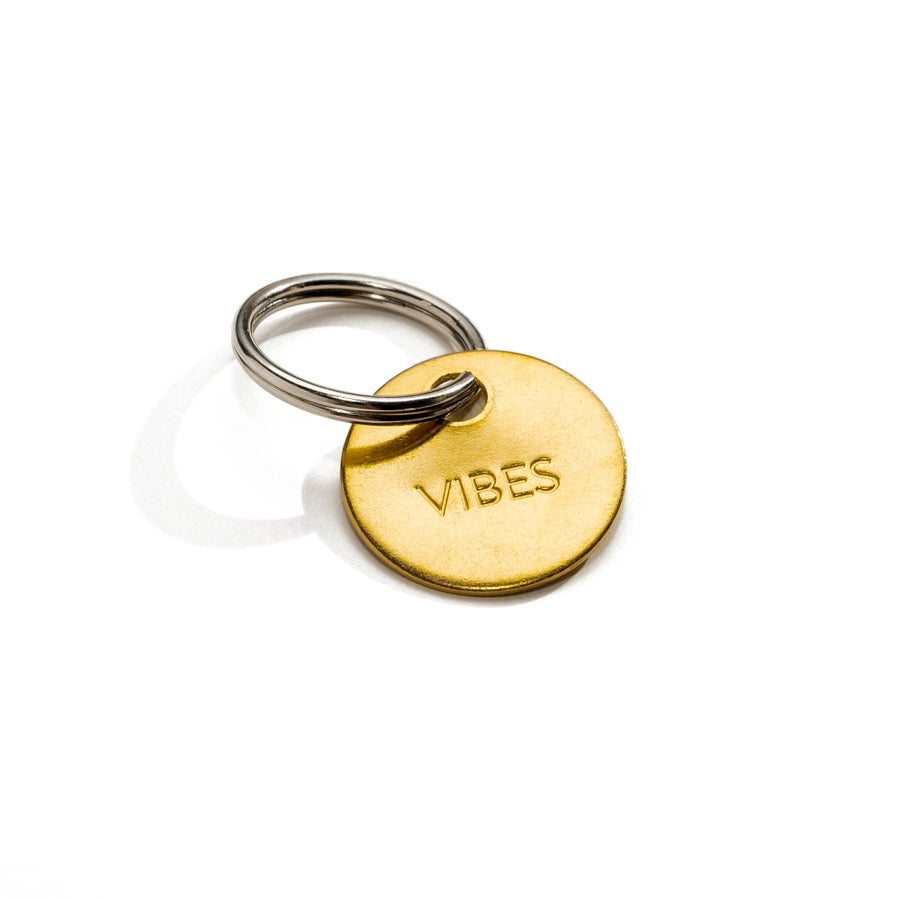 Image of VIBES / SMALL BRASS KEYCHAIN