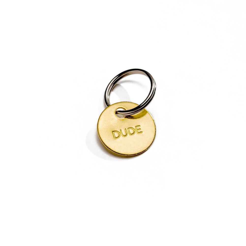 Image of DUDE / SMALL BRASS KEYCHAIN