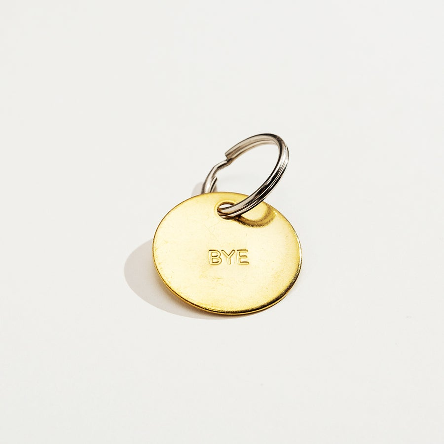 Image of BYE / MEDIUM BRASS KEYCHAIN