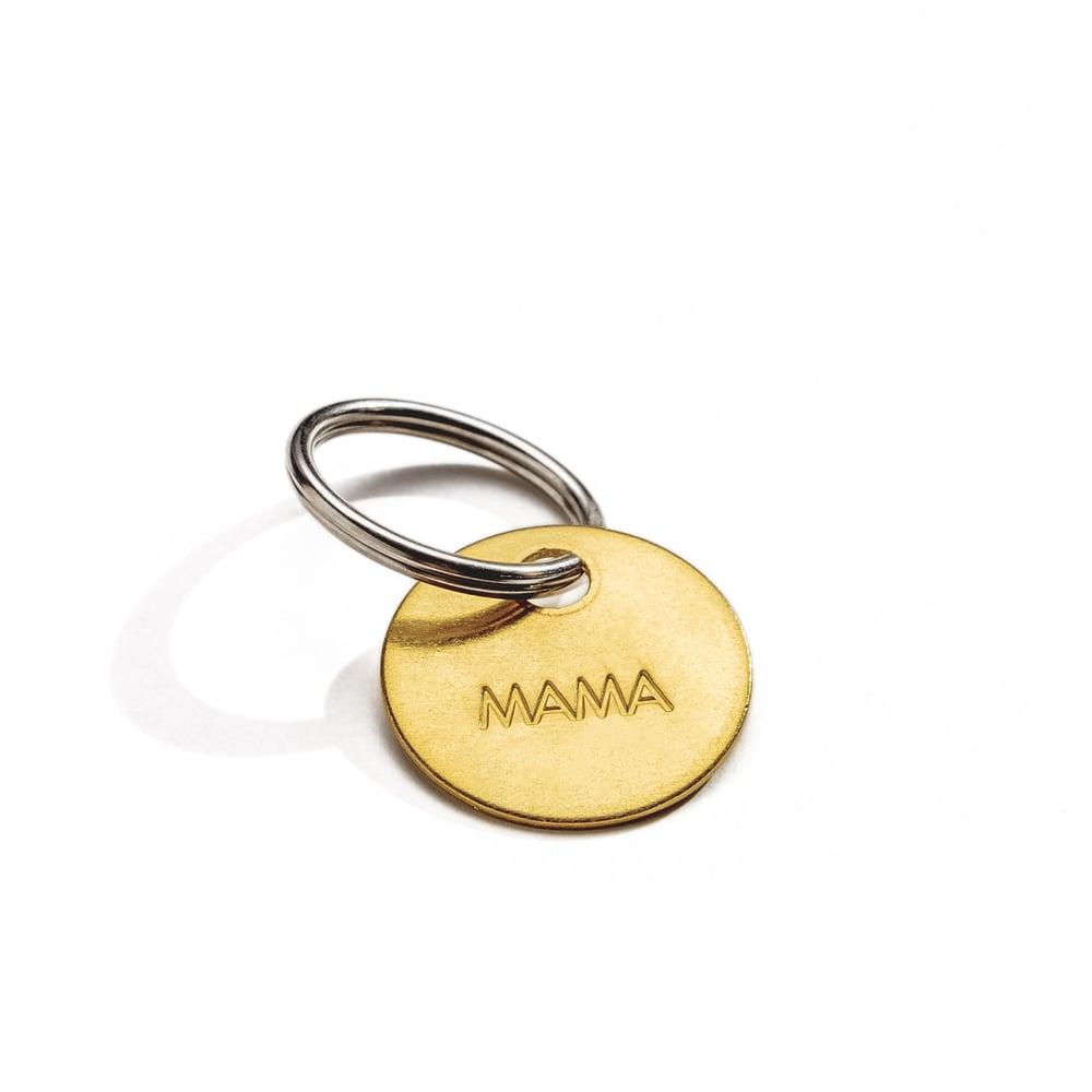 Image of MAMA Small Brass Keychain