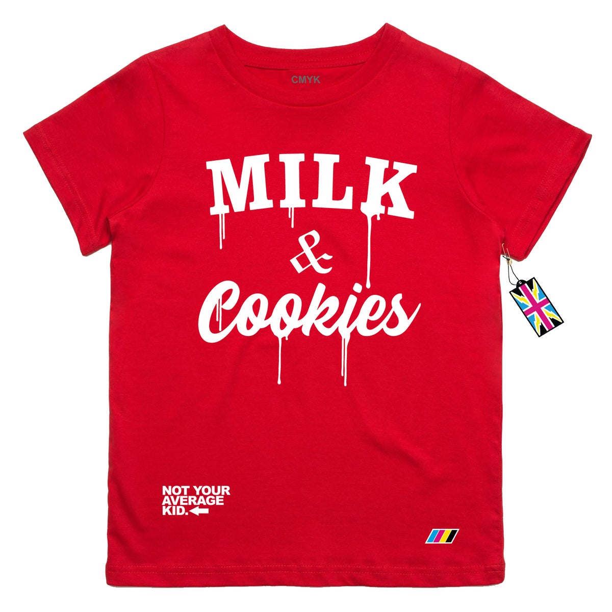 Image of Milk & Cookies Red t shirt