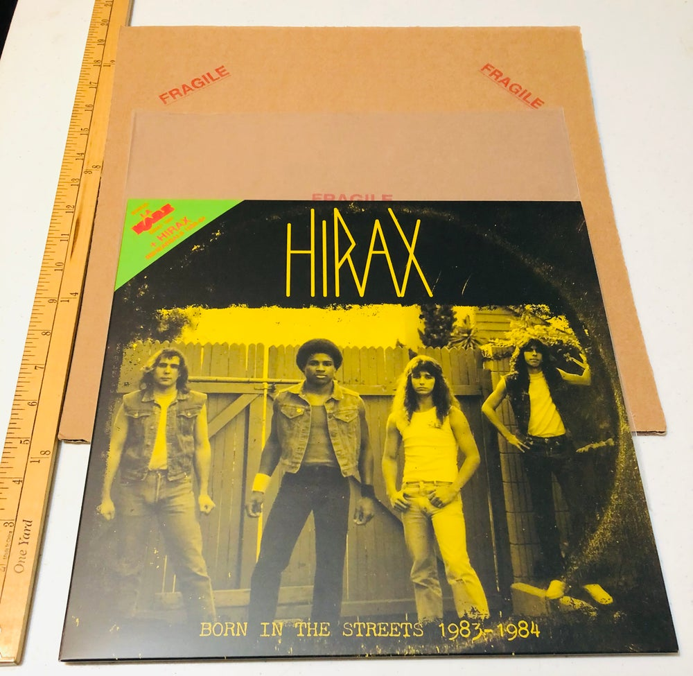 "HIRAX 12"" vinyl demo ""Born in the streets 1983-84"" LP"