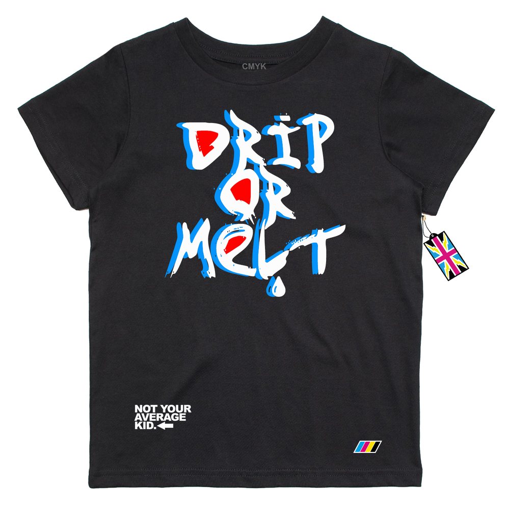 Image of Drip Or Melt- Black T Shirt