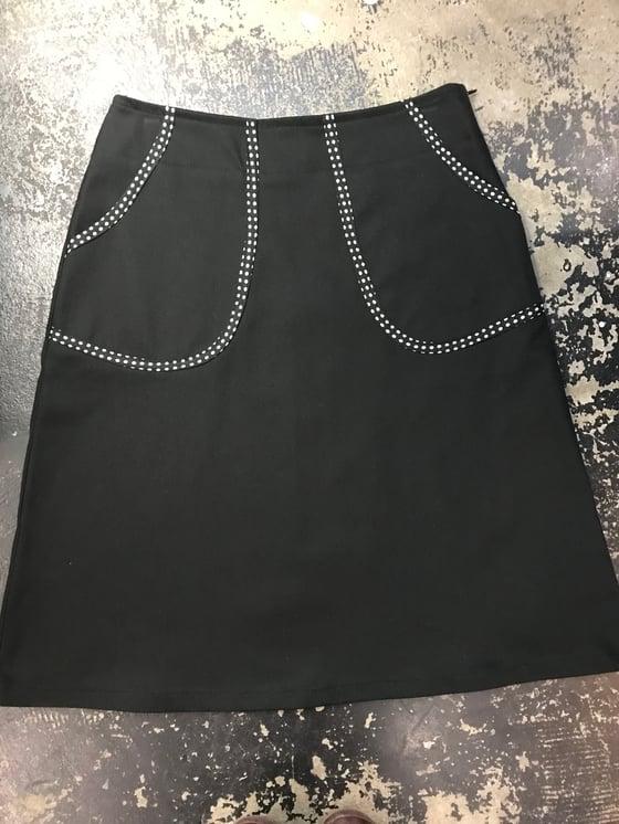 Image of Kylie Jane black denim pocket skirt